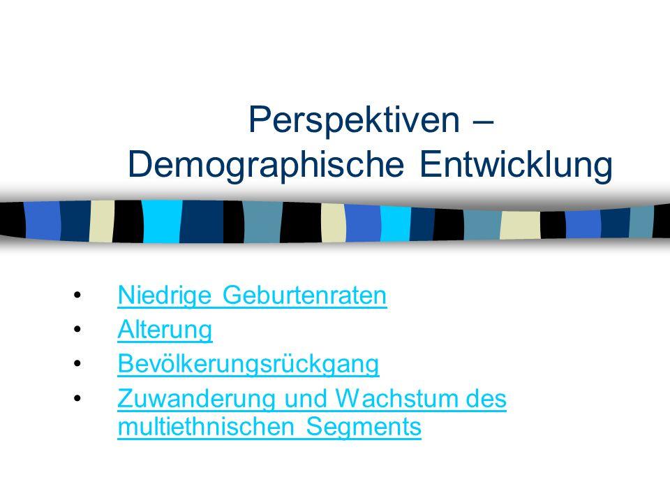 Perspektiven – Demographische Entwicklung