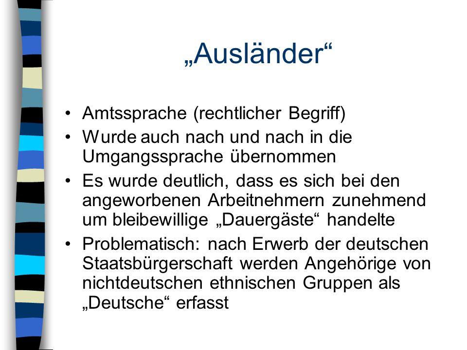 """""""Ausländer Amtssprache (rechtlicher Begriff)"""
