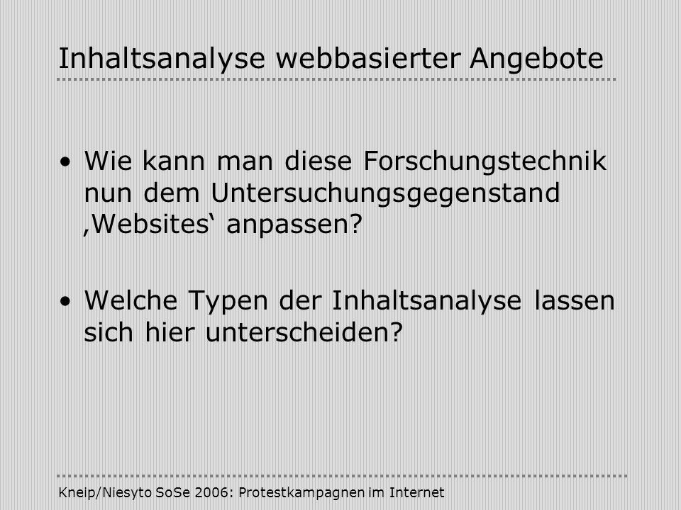 Inhaltsanalyse webbasierter Angebote