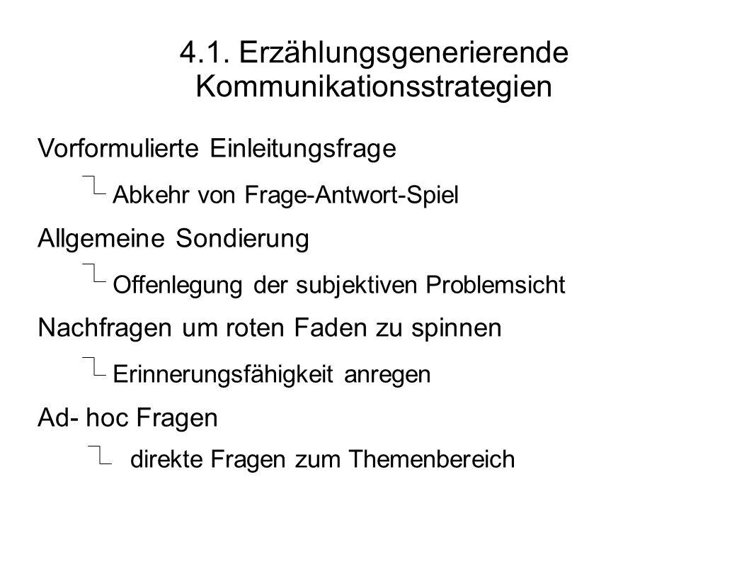 4.1. Erzählungsgenerierende Kommunikationsstrategien