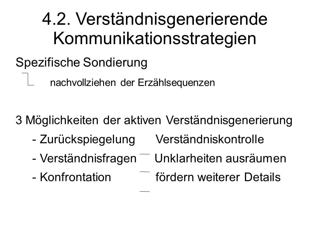 4.2. Verständnisgenerierende Kommunikationsstrategien