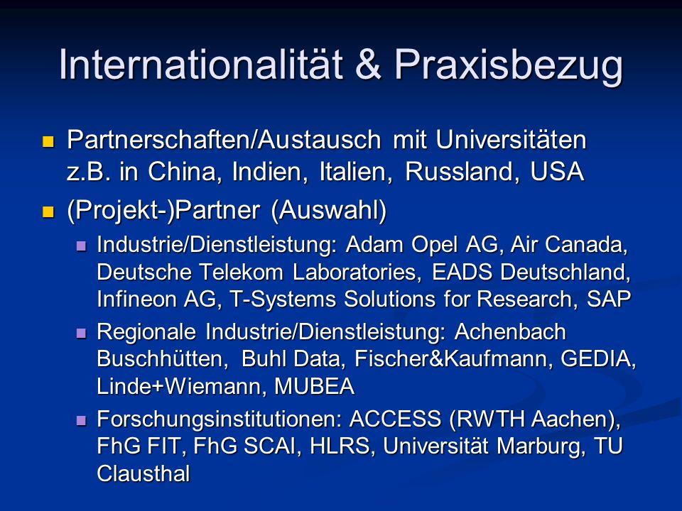Internationalität & Praxisbezug