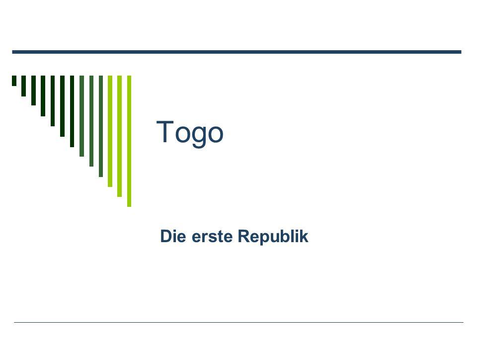 Togo Die erste Republik