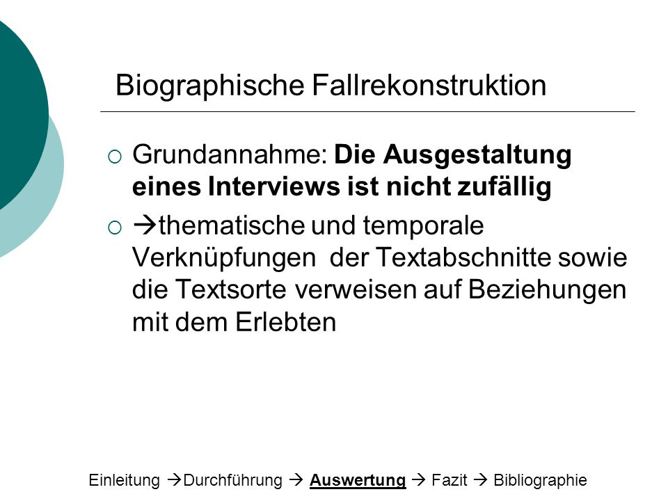 Biographische Fallrekonstruktion