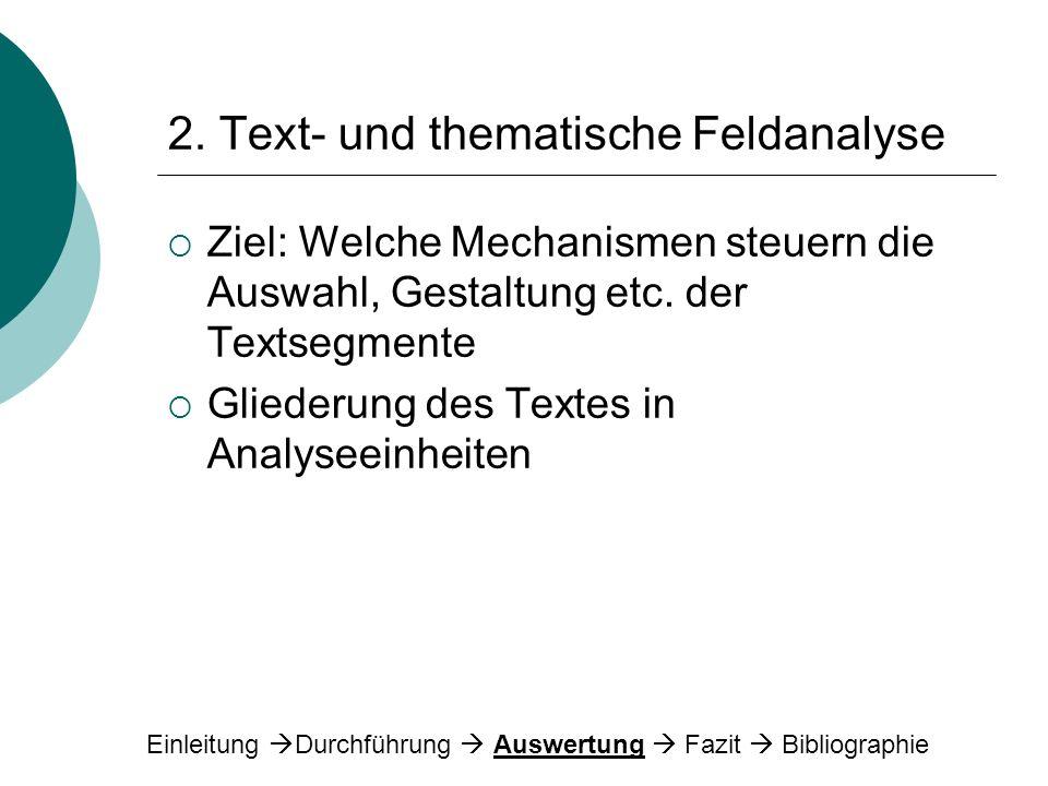 2. Text- und thematische Feldanalyse