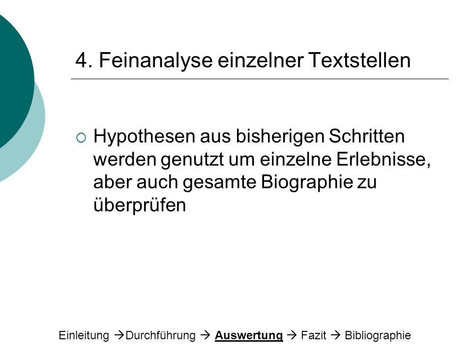 4. Feinanalyse einzelner Textstellen