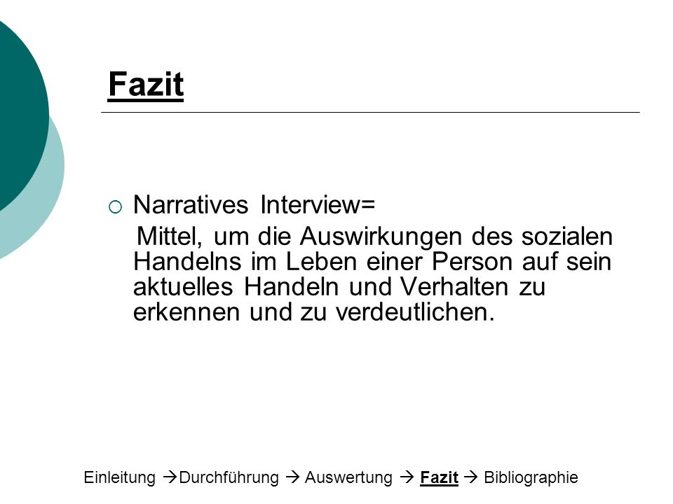 Fazit Narratives Interview=