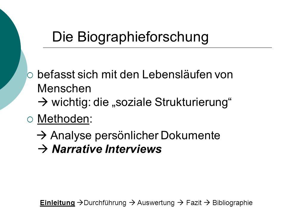 Die Biographieforschung