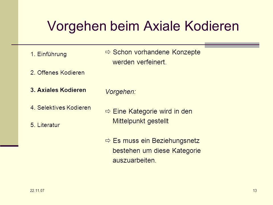Vorgehen beim Axiale Kodieren
