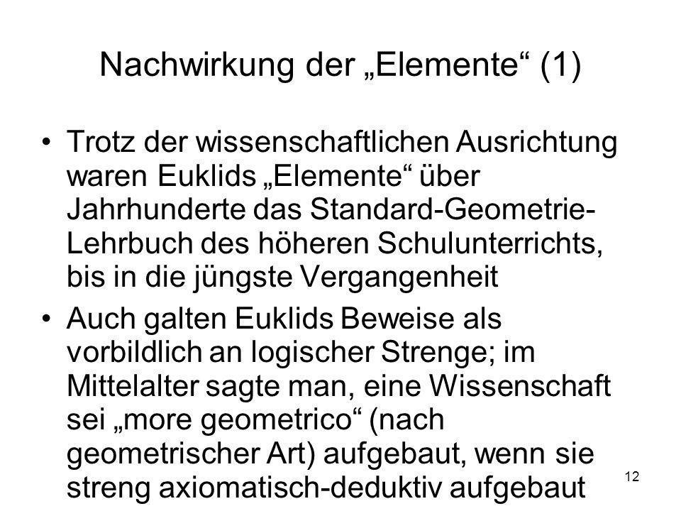 """Nachwirkung der """"Elemente (1)"""