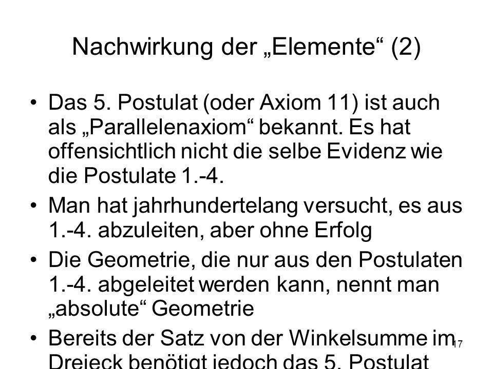 """Nachwirkung der """"Elemente (2)"""