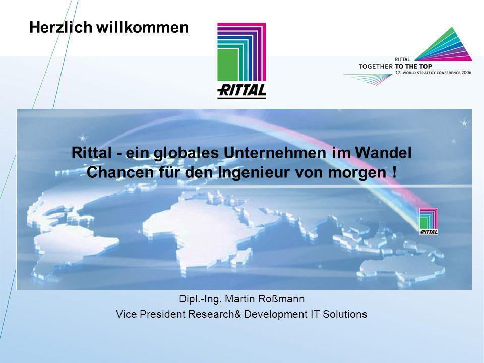 Herzlich willkommen Rittal - ein globales Unternehmen im Wandel Chancen für den Ingenieur von morgen !