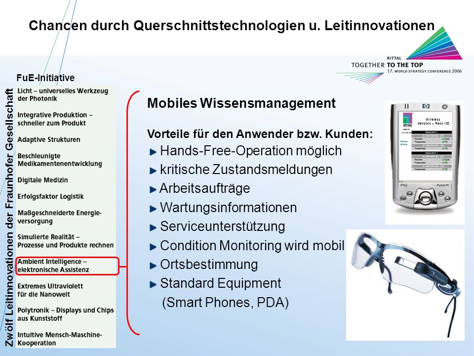 Chancen durch Querschnittstechnologien u. Leitinnovationen