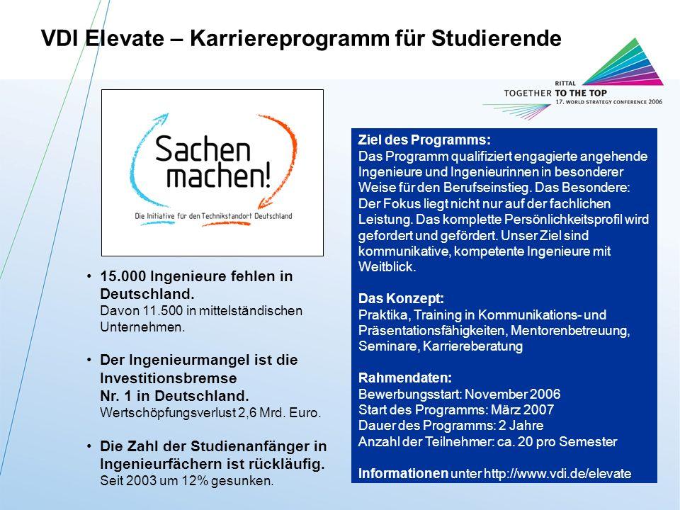 VDI Elevate – Karriereprogramm für Studierende