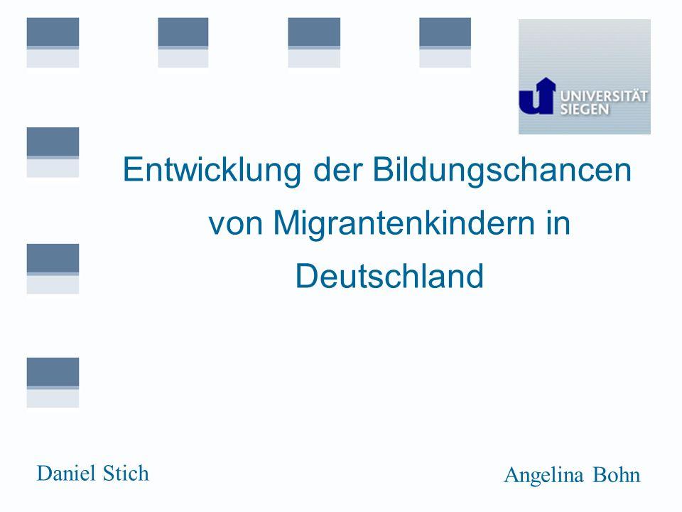 Entwicklung der Bildungschancen von Migrantenkindern in Deutschland