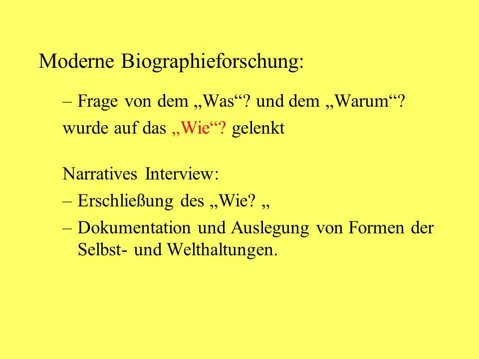 Moderne Biographieforschung: