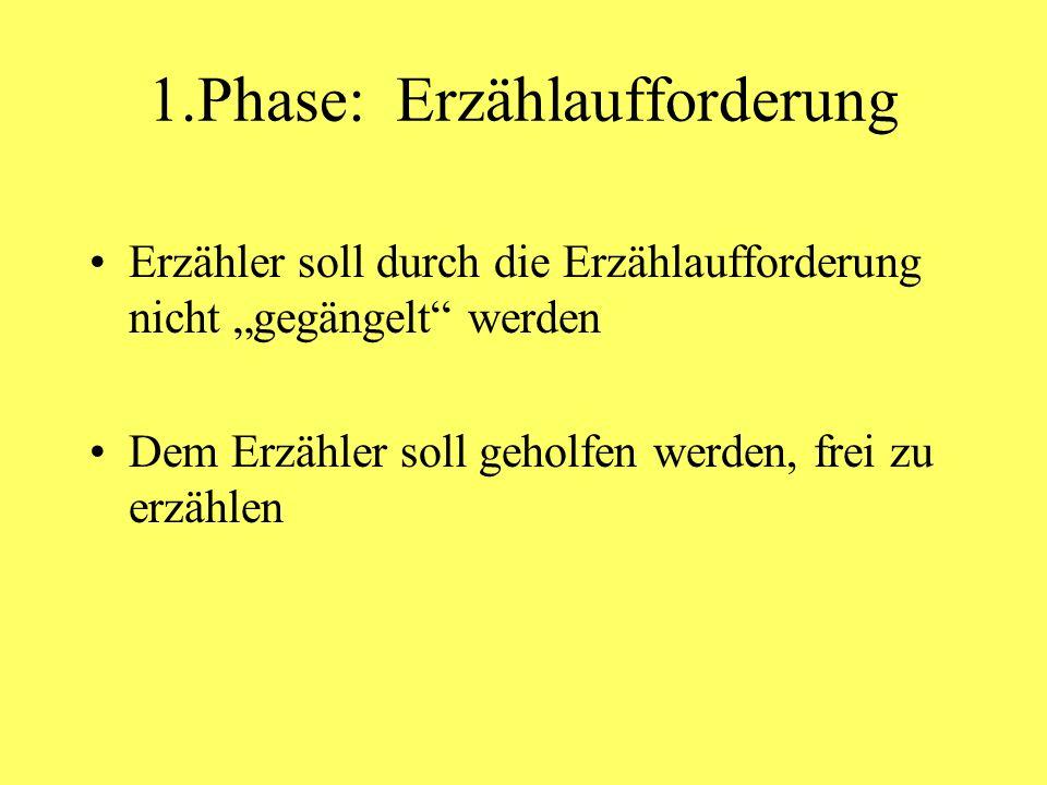 1.Phase: Erzählaufforderung