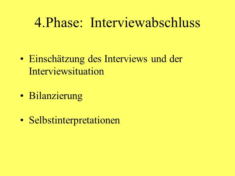 4.Phase: Interviewabschluss