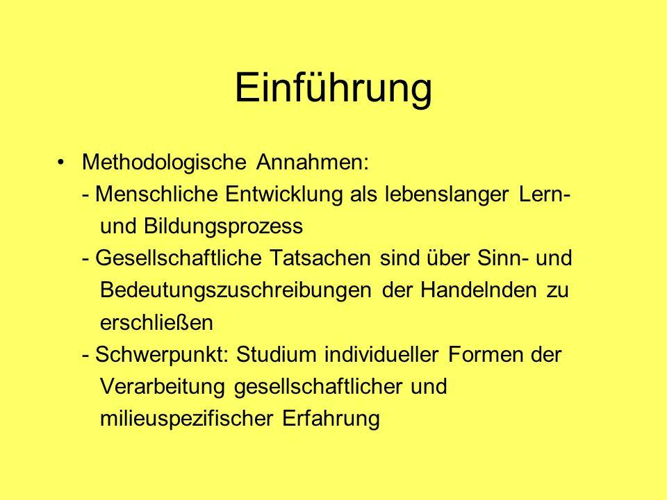 Einführung Methodologische Annahmen: