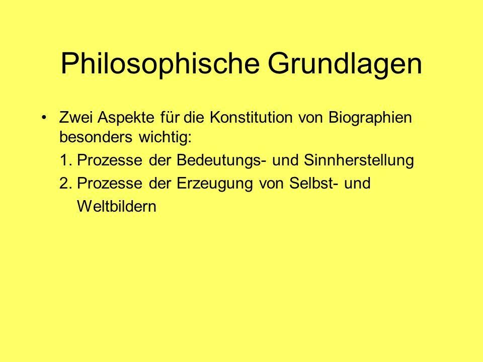 Philosophische Grundlagen