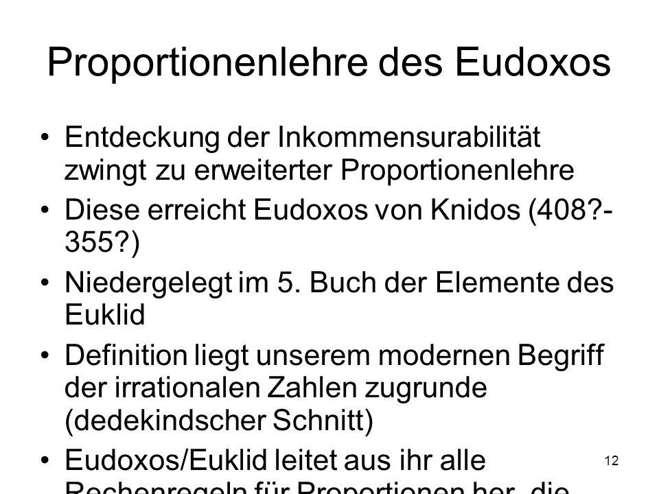 Proportionenlehre des Eudoxos