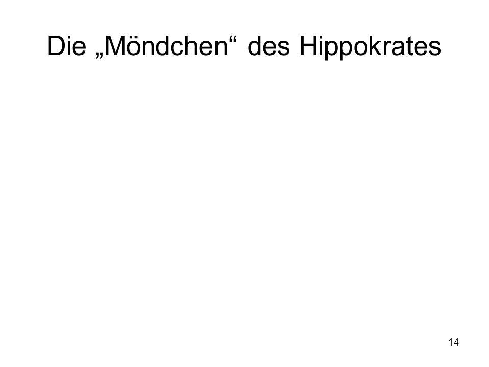 """Die """"Möndchen des Hippokrates"""