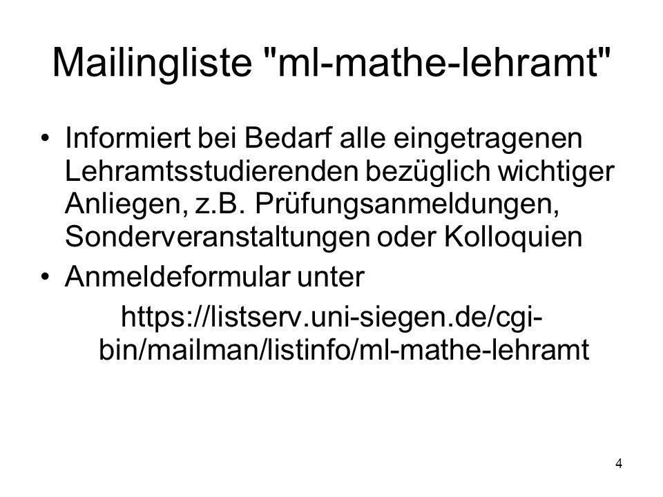 Mailingliste ml-mathe-lehramt