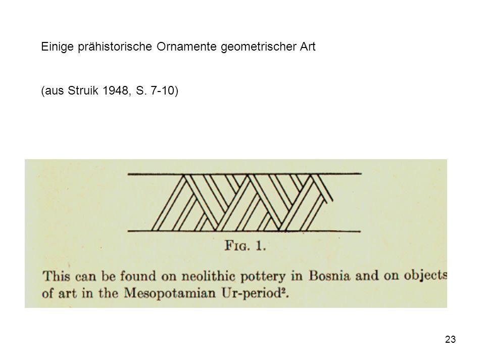 Einige prähistorische Ornamente geometrischer Art