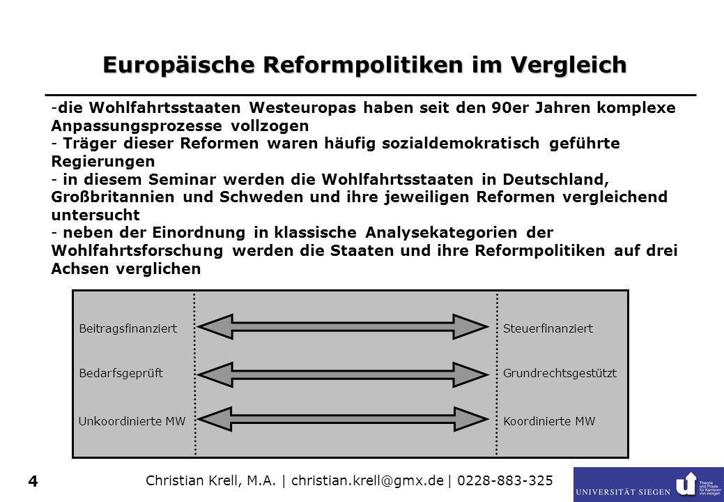 Europäische Reformpolitiken im Vergleich