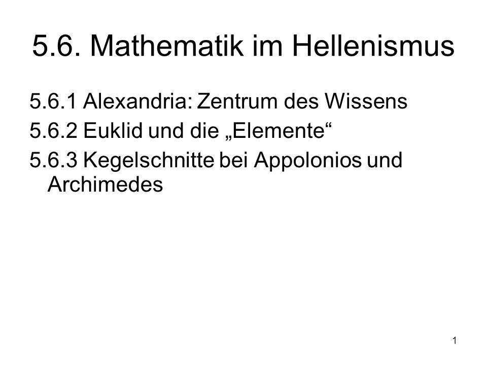 5.6. Mathematik im Hellenismus
