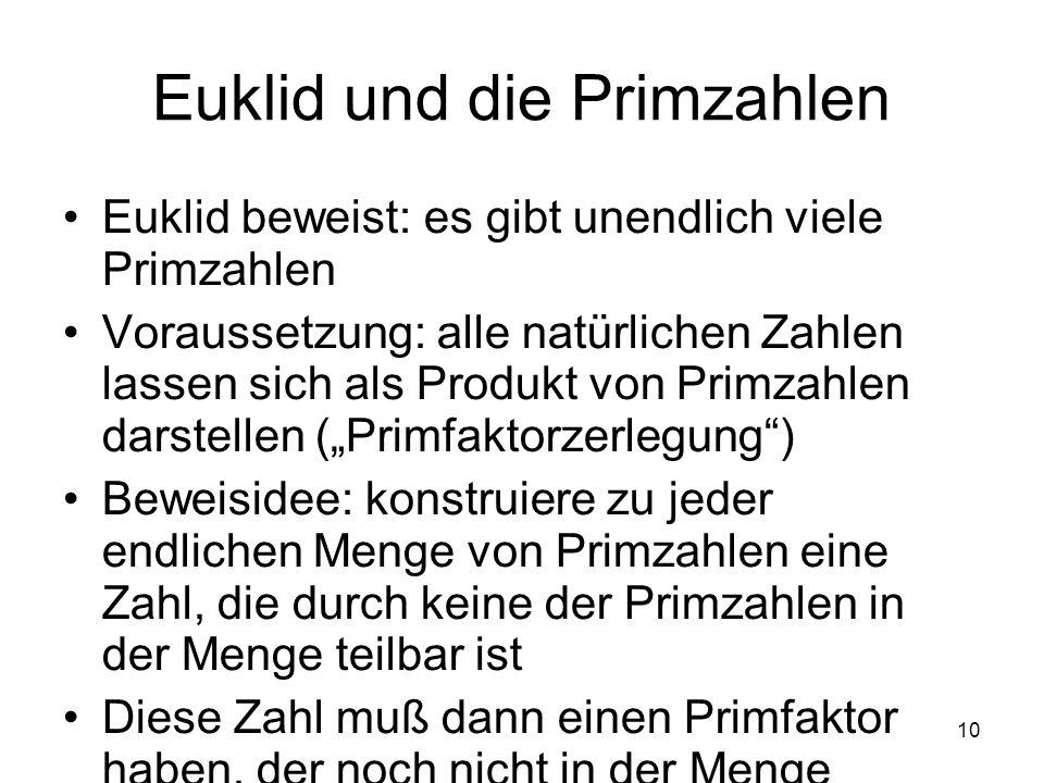 Euklid und die Primzahlen