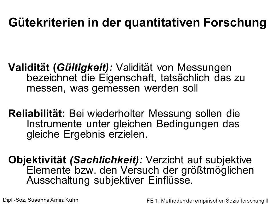 Gütekriterien in der quantitativen Forschung