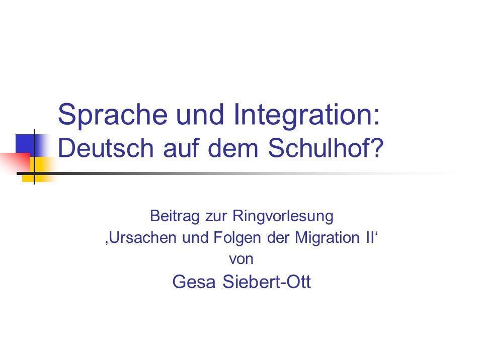 Sprache und Integration: Deutsch auf dem Schulhof