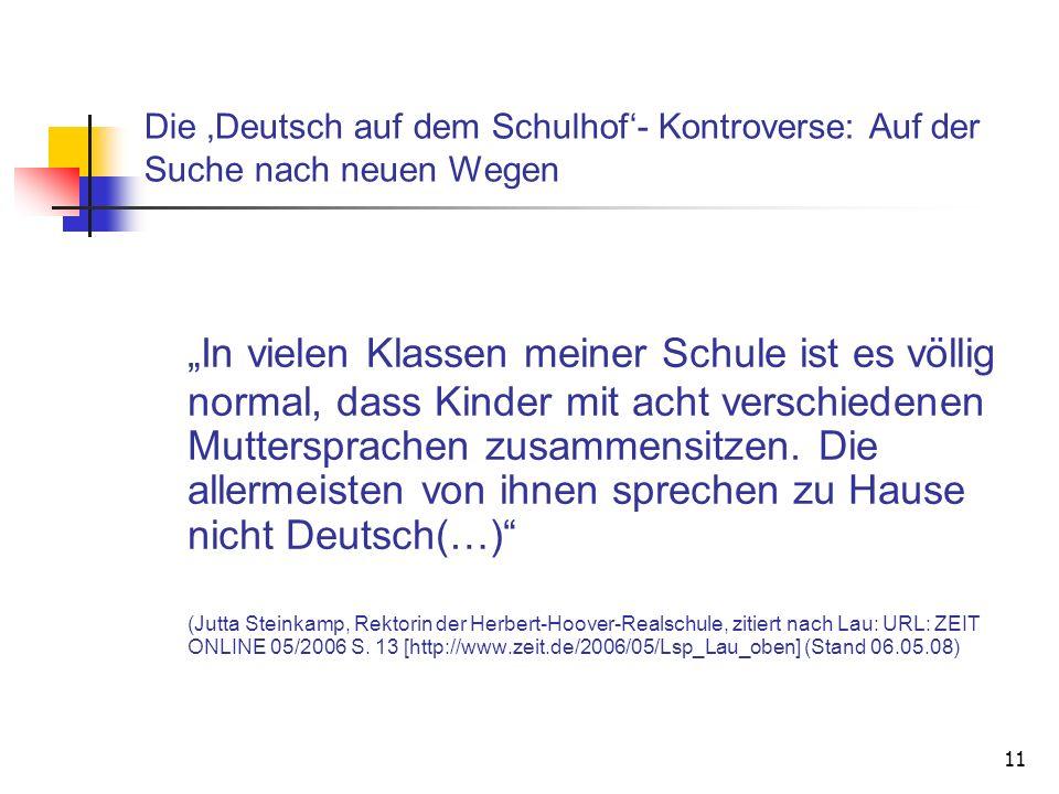 Die 'Deutsch auf dem Schulhof'- Kontroverse: Auf der Suche nach neuen Wegen