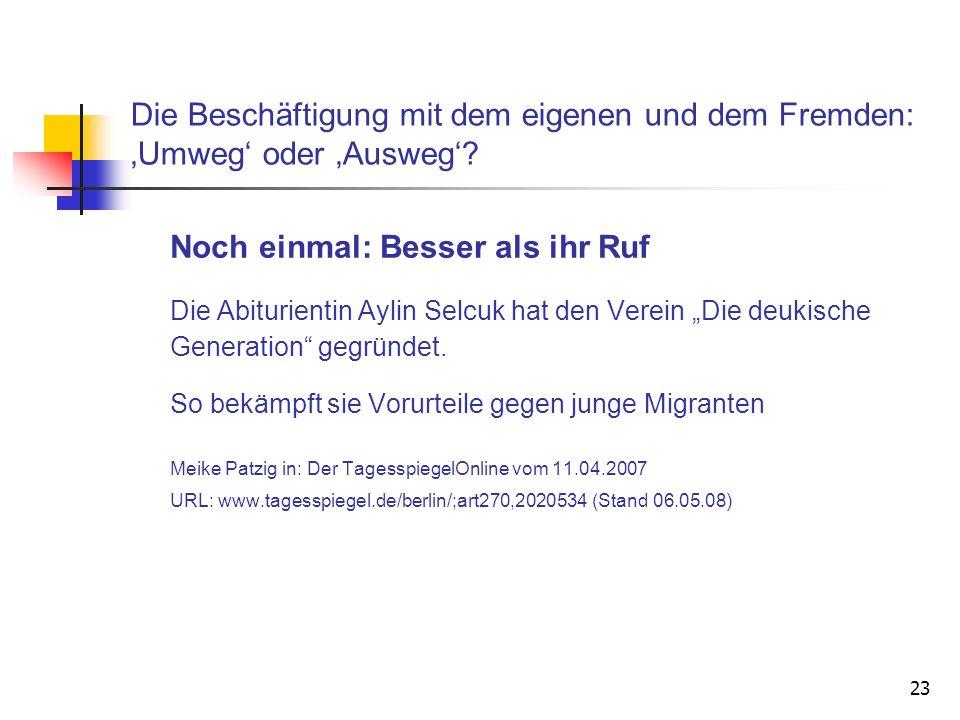 Meike Patzig in: Der TagesspiegelOnline vom 11.04.2007