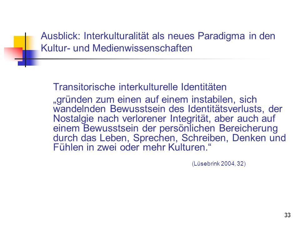 Transitorische interkulturelle Identitäten