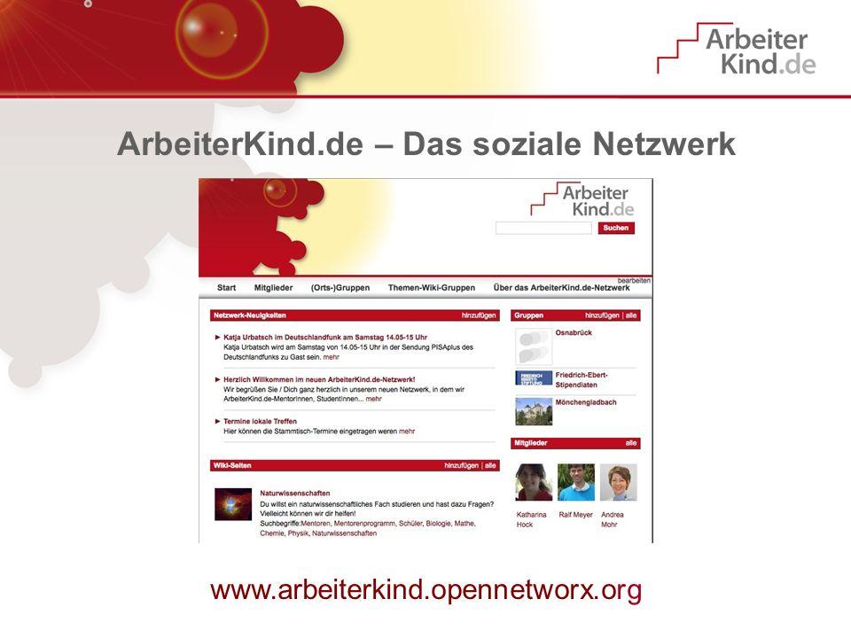 ArbeiterKind.de – Das soziale Netzwerk