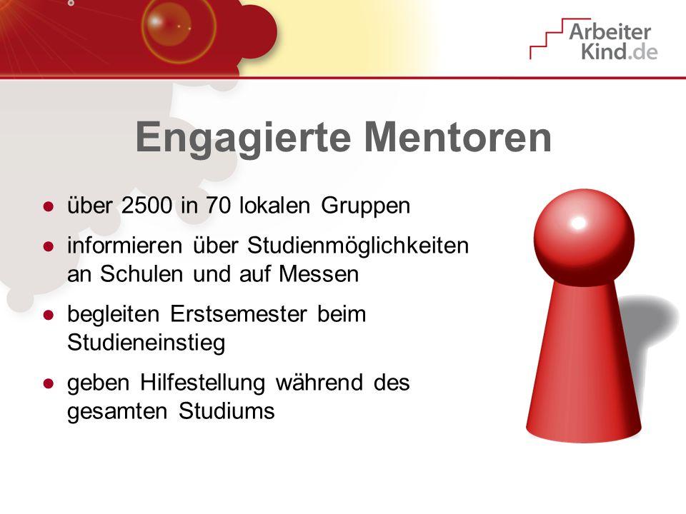 Engagierte Mentoren über 2500 in 70 lokalen Gruppen
