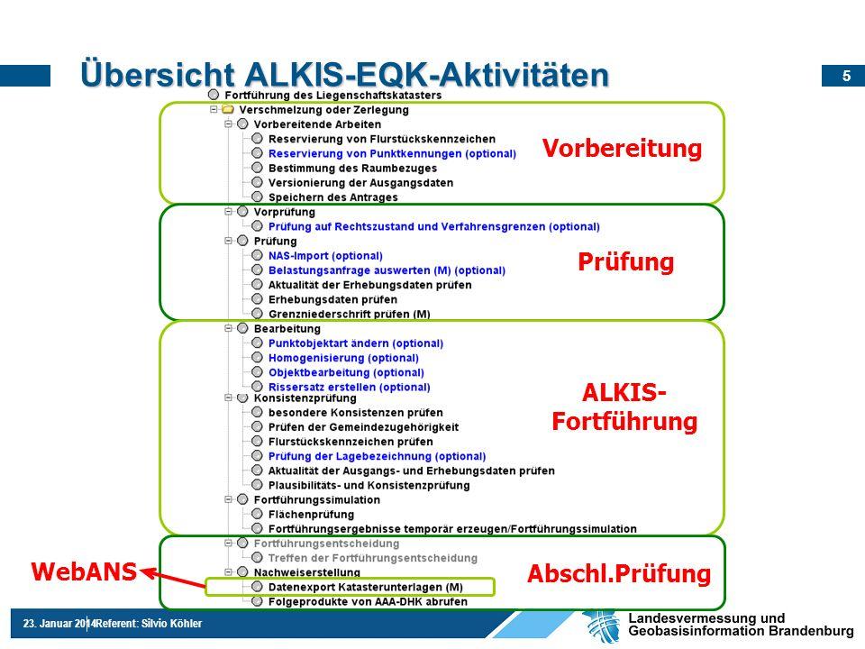 Übersicht ALKIS-EQK-Aktivitäten