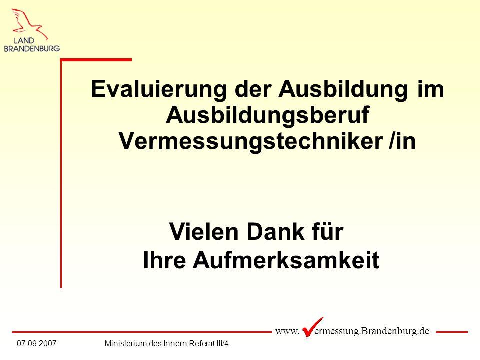 Evaluierung der Ausbildung im Ausbildungsberuf Vermessungstechniker /in