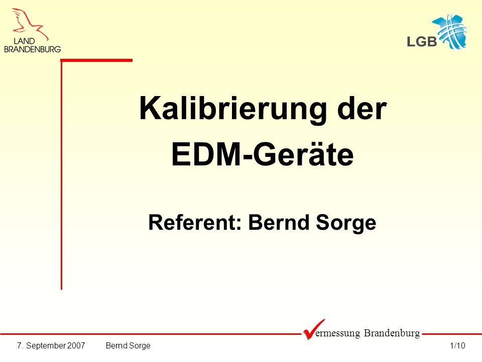 Kalibrierung der EDM-Geräte