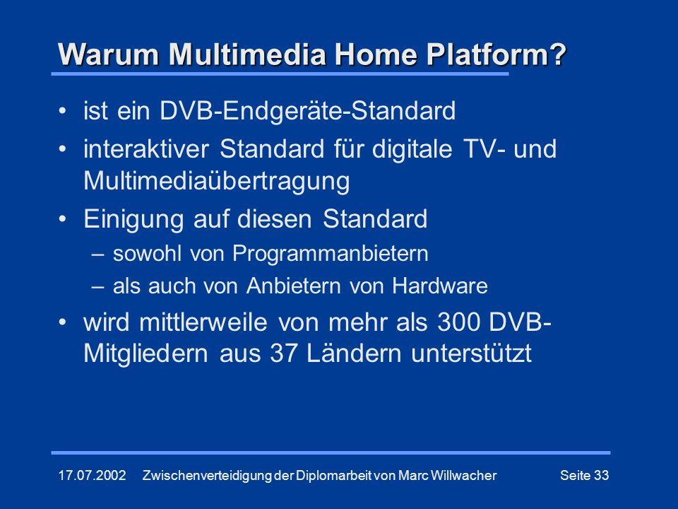 Warum Multimedia Home Platform