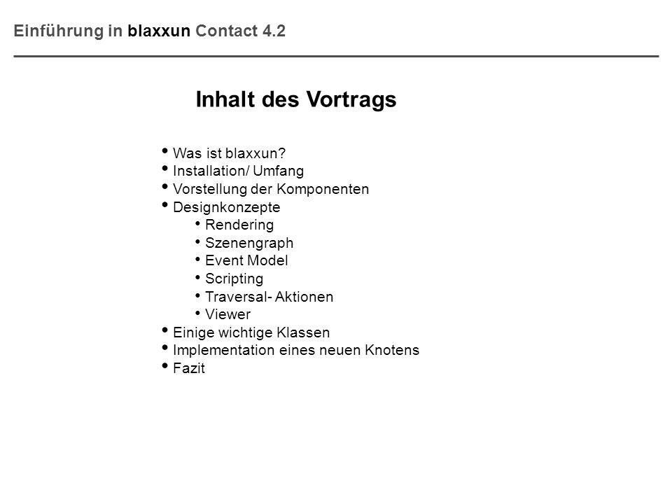 Inhalt des Vortrags Einführung in blaxxun Contact 4.2 Was ist blaxxun