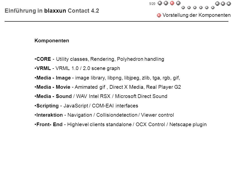 Einführung in blaxxun Contact 4.2