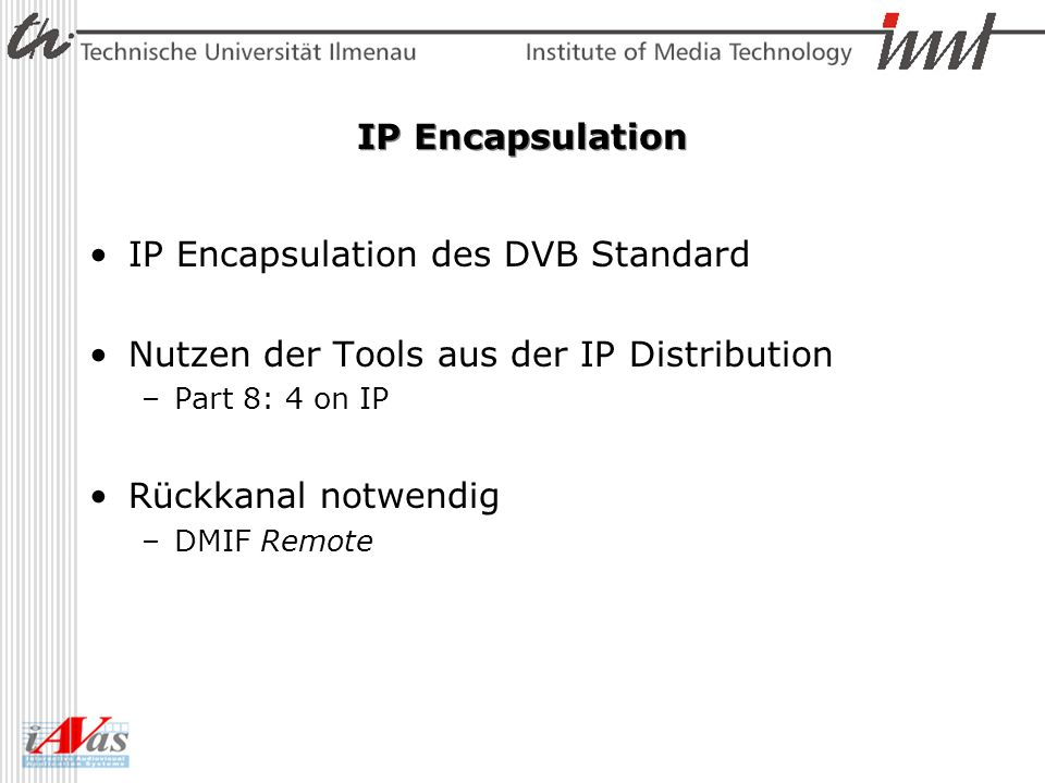 IP Encapsulation des DVB Standard
