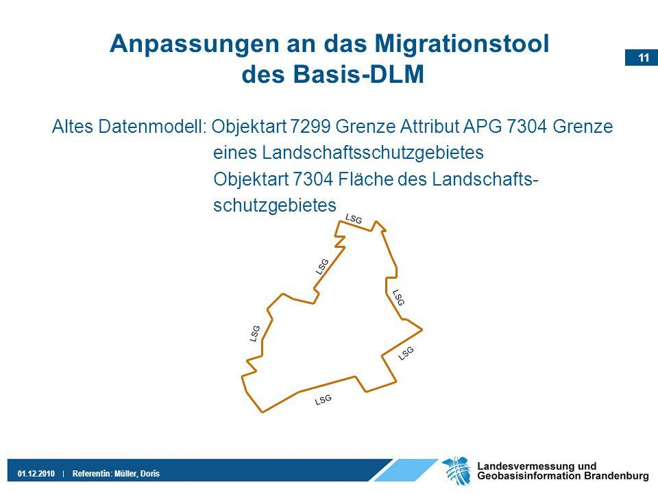 Anpassungen an das Migrationstool des Basis-DLM