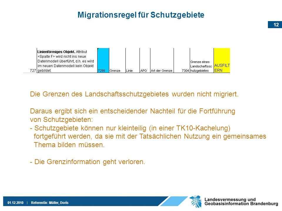 Migrationsregel für Schutzgebiete