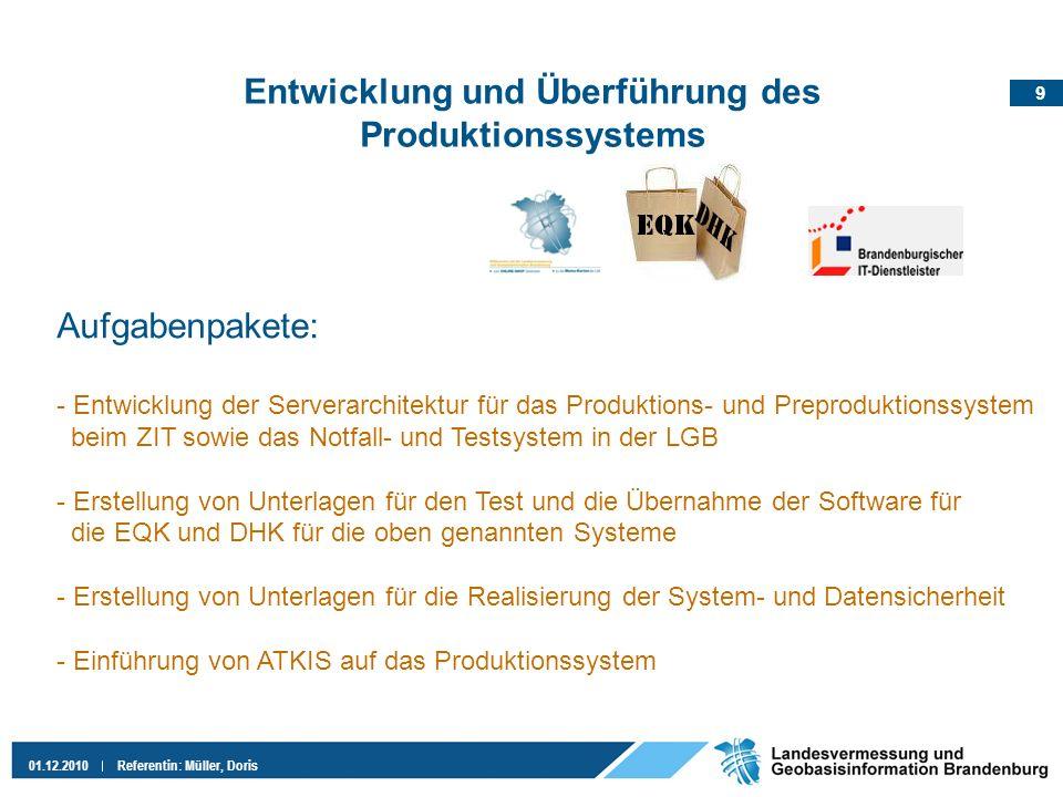 Entwicklung und Überführung des Produktionssystems