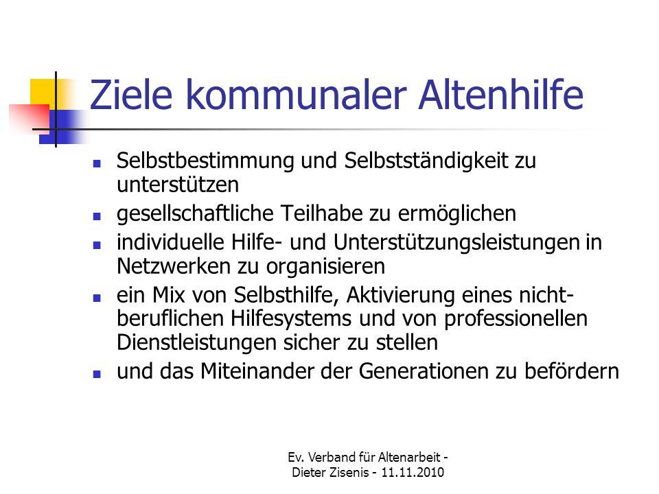 Ziele kommunaler Altenhilfe