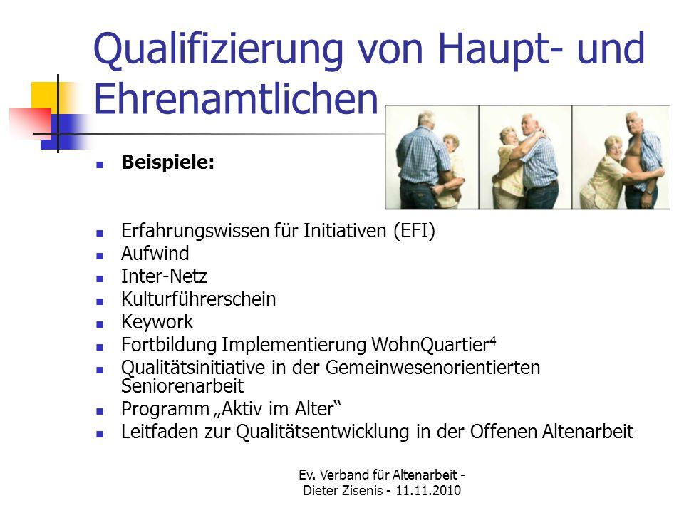 Qualifizierung von Haupt- und Ehrenamtlichen